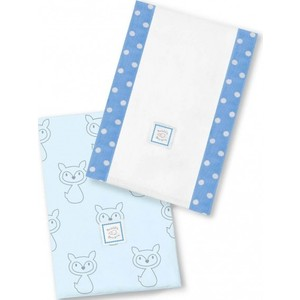 Полотенчики SwaddleDesigns Baby Burpie Set Blue Gray Fox (SD-613B) игрушка ecx ruckus gray blue ecx00013t1