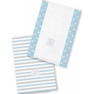 Полотенчики SwaddleDesigns Baby Burpie Set Blue Simple Stripes (SD-621PB) sky blue simple scoop neck front zip backless wide strap bikini set