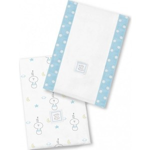 Полотенчики SwaddleDesigns Baby Burpie Set Blue Space Fun (SD-615PB)