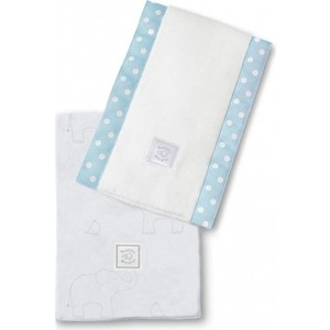 Полотенчики SwaddleDesigns Baby Burpie Set Blue Sterling Deco Elephants on Sunwashed Pastels (SD-353SB)