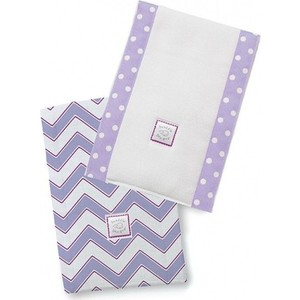 Полотенчики SwaddleDesigns Baby Burpie Set L/VB Trim Chevron (SD-451L)