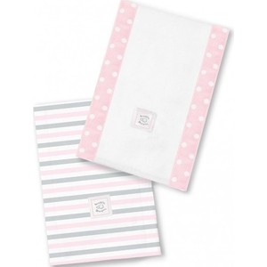 Полотенчики SwaddleDesigns Baby Burpie Set Pink Simple Stripes (SD-621PP)
