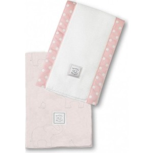 Полотенчики SwaddleDesigns Baby Burpie Set Pink Sterling Deco Elephants on Sunwashed Pastels (SD-353SP)