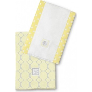 Полотенчики SwaddleDesigns Baby Burpie Set Yellow Sterling Mod Circles on Sunwashed Pastels (SD-351SY)