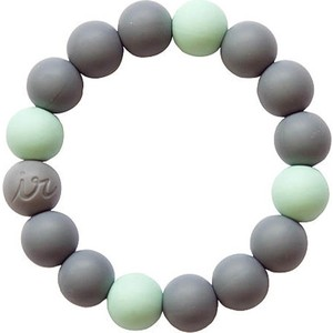 Силиконовый браслет Itzy Ritzy Round Bead Mint (BRACEBEAD9202) слингобусы itzy ritzy pebble little black dress pebneck1000