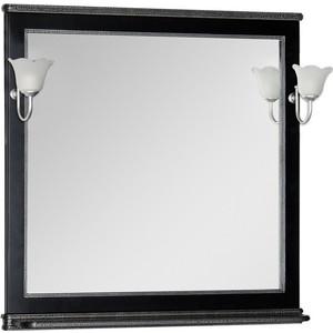 Зеркало Aquanet Валенса 100 черный краколет/серебро (180297)
