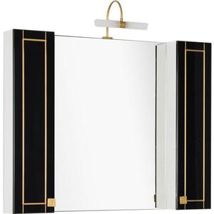 Зеркало Aquanet Честер 105 черный/золото (186085) aquanet мебель для ванной aquanet честер 60