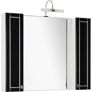 Зеркало Aquanet Честер 105 черный/серебро (186086) aquanet мебель для ванной aquanet честер 60