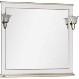 Фотография товара зеркало Aquanet Валенса 100 белый краколет/золото (182647) (652096)