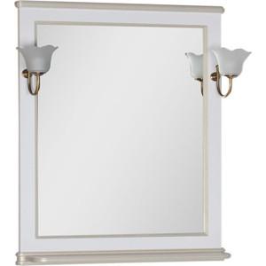 Зеркало Aquanet Валенса 80 белый краколет/золото (182650)