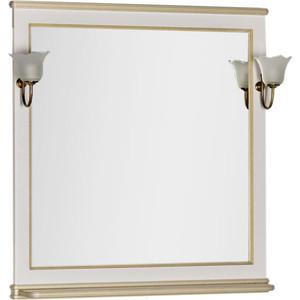 Зеркало Aquanet Валенса 90 белый краколет/золото (182651)