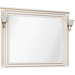 Зеркало Aquanet Паола 120 белый/золото (186105) чехол для iphone 7 plus глянцевый printio 2018 год собаки