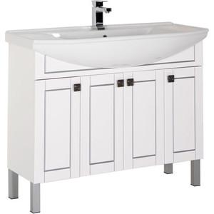 Тумба под раковину Aquanet Честер 105 белый/серебро (182630) aquanet мебель для ванной aquanet честер 60