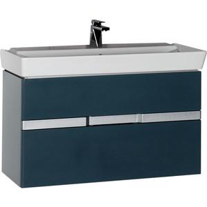 Тумба под раковину Aquanet Виго 100 сине-серый (183361) aquanet мебель для ванной aquanet виго 100 сине серая