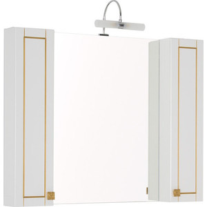 Шкаф-зеркало Aquanet Честер 105 белый/золото (186084)