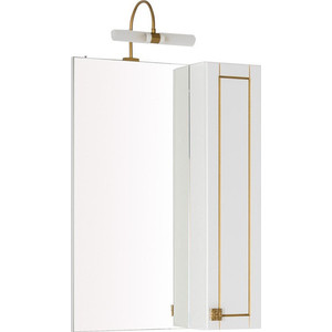Шкаф-зеркало Aquanet Честер 60 белый/золото (186087)