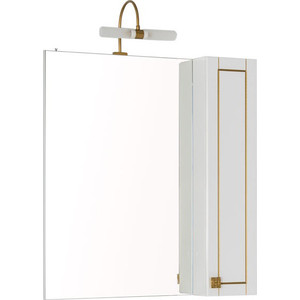 Шкаф-зеркало Aquanet Честер 75 белый/золото (186090) шкаф зеркало aquanet честер 85 белый 186400