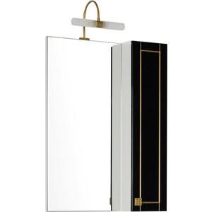 Шкаф-зеркало Aquanet Честер 60 черный/золото (186088)