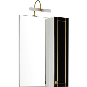 Шкаф-зеркало Aquanet Честер 60 черный/золото (186088) шкаф зеркало aquanet честер 85 белый 186400