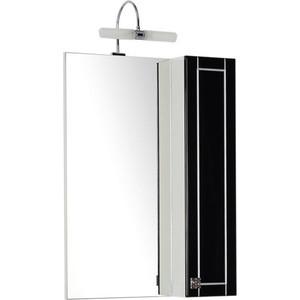 Шкаф-зеркало Aquanet Честер 60 черный/серебро (186089) шкаф зеркало aquanet честер 85 белый 186400