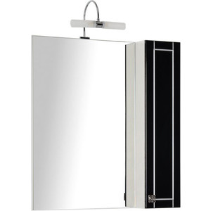 Шкаф-зеркало Aquanet Честер 75 черный/серебро (186092)