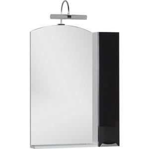 Шкаф-зеркало Aquanet Асти 65 черный (шкаф/полка) (180076) зеркало шкаф aquaton крит 65 венге