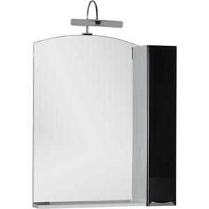 Шкаф-зеркало Aquanet Асти 75 черный (шкаф/полка) (180078) зеркало шкаф comforty марио 75 сосна лоредо