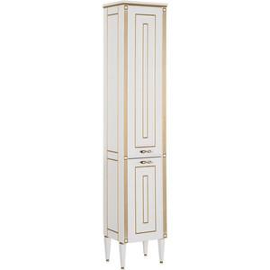 Шкаф-пенал Aquanet Паола 40 белый/золото (186112) комплект мебели aquanet паола 182133