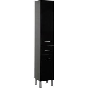 Шкаф-пенал Aquanet Верона 35 б/к черный (напольный) (178974) шкаф пенал aquanet марсель а 103 с б к 101163