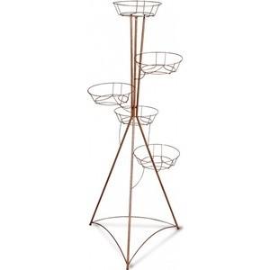 Подцветочница Sheffilton Колонна пятигоршковая медный антик зми бн 140 медный антик бежевый