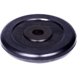 Диск обрезиненный Titan 26 мм 10 кг черный диск обрезиненный star fit bb 201 d 26 мм стальная втулка 15кг