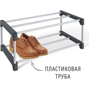 Полка для обуви Sheffilton SHT-SR3-P серый/темно-серый тв тюнер внешний bbk smp123hdt2 темно серый smp123hdt2 темно серый