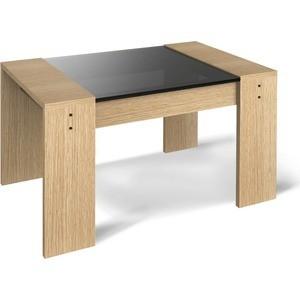 Журнальный стол Sheffilton 210 дуб беленый/дымчатый маленький круглый стеклянный стол на кухню кубика шанхай к стекло темно коричневое беленый дуб