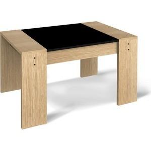 Журнальный стол Sheffilton 210 дуб беленый/черный маленький круглый стеклянный стол на кухню кубика шанхай к стекло темно коричневое беленый дуб