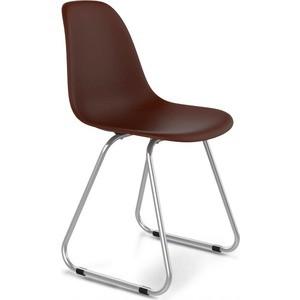 Стул Sheffilton SHT-S38 коричневый/хром лак стул sheffilton sht s40 коричневый медный мет