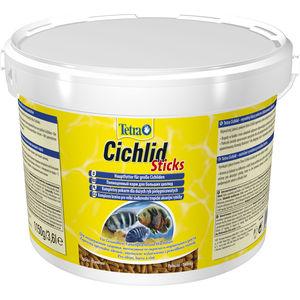Корм Tetra Cichlid Sticks Premium Food for Large Cichlids палочки для крупных цихлид 10л (153691) корм tetra malawi flakes complete food for east african cichlids хлопья с водорослями для восточно африканских цихлид 1л