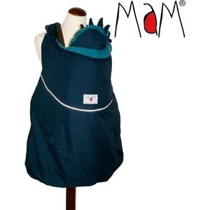 МаМ Зимняя накидка для слингоношения с шапочкой для малыша Winter Cover, Синий/Голубой (12289930)
