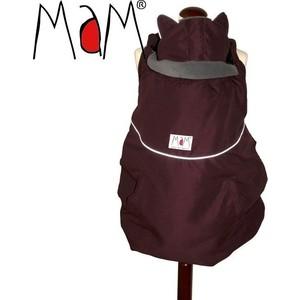 МаМ Зимняя накидка для слингоношения с шапочкой для малыша Winter Cover, Бордовый/Серый (12289931)