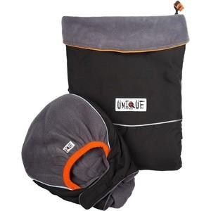 МаМ Двухстронняя водоотталкивающая накидка Deluxe Cover для слингоношения с шапочкой для малыша, Черный/Серебристый (12269942) товары для мам