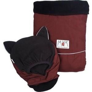 МаМ Двухстронняя водоотталкивающая накидка Deluxe Cover для слингоношения с шапочкой для малыша, Бордовый/черный (12269941) товары для мам