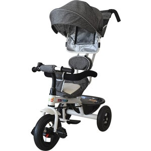 Велосипед трицикл BabyHit Kids Tour - Серый под лён babyhit 3 х колесный kids tour красный