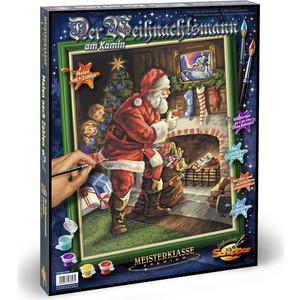 Schipper Раскраска по номерам 40х50 см, Санта Клаус у камина (9300696)