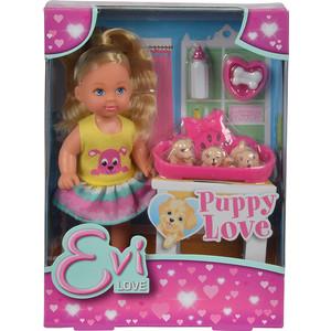 simba кукла еви с подружкой Simba Кукла Еви с собачками, 12см. (5733041)