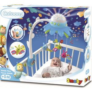 Smoby Cotoons Мобиль муз. на кроватку Цветок, синий (211407)