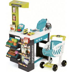 Smoby Role Play Магазин супермаркет с тележкой, звук, синий (350206) smoby игровой набор для уборки с тележкой