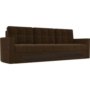 Диван АртМебель Белла микровельвет коричневый диван книжка артмебель анна микровельвет коричневый