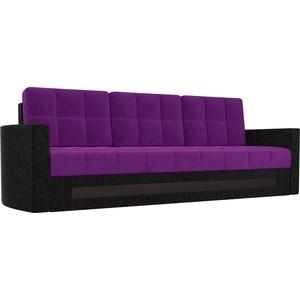 Диван АртМебель Белла микровельвет фиолетово-черный gps часы маяк для спецагента q50 фиолетово черный