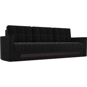 Диван АртМебель Белла микровельвет черный угловой диван артмебель андора ткань правый