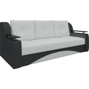 Купить диван-еврокнижка АртМебель Сенатор НПБ эко-кожа бело-черный (671814) в Москве, в Спб и в России