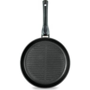 Сковорода-гриль d 26 см со съемной ручкой Нева-Металл Ферра (54026) сковорода гриль чугунная биол с крышкой со съемной ручкой 26 х 26 см